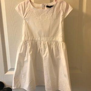 Nautica - 5T white cotton dress.